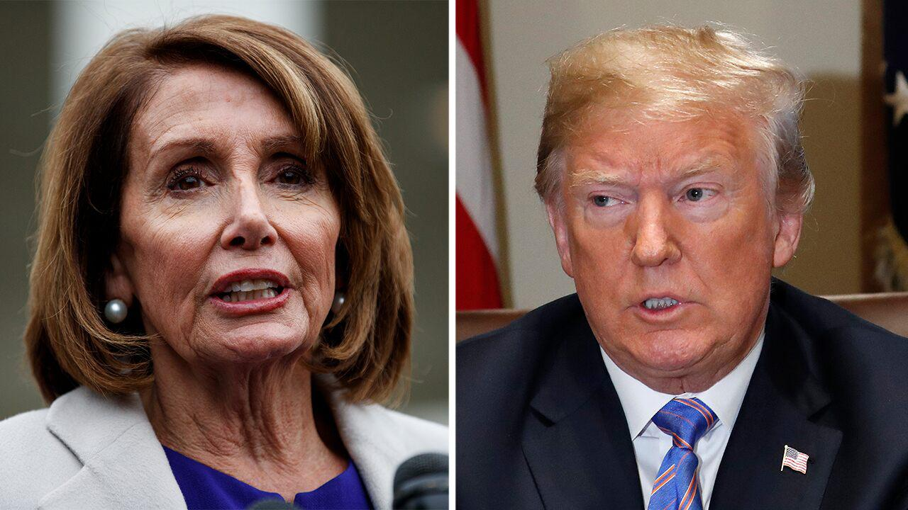 President Trump says 'nervous Nancy' Pelosi is a 'disaster'