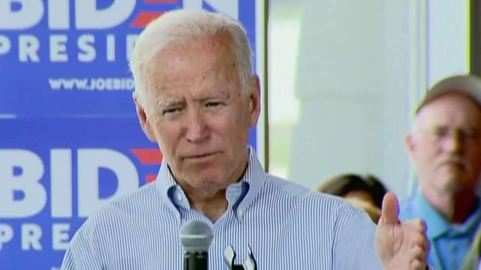 2020 Democratic candidate Joe Biden says the Trump presidency is a threat to democracy
