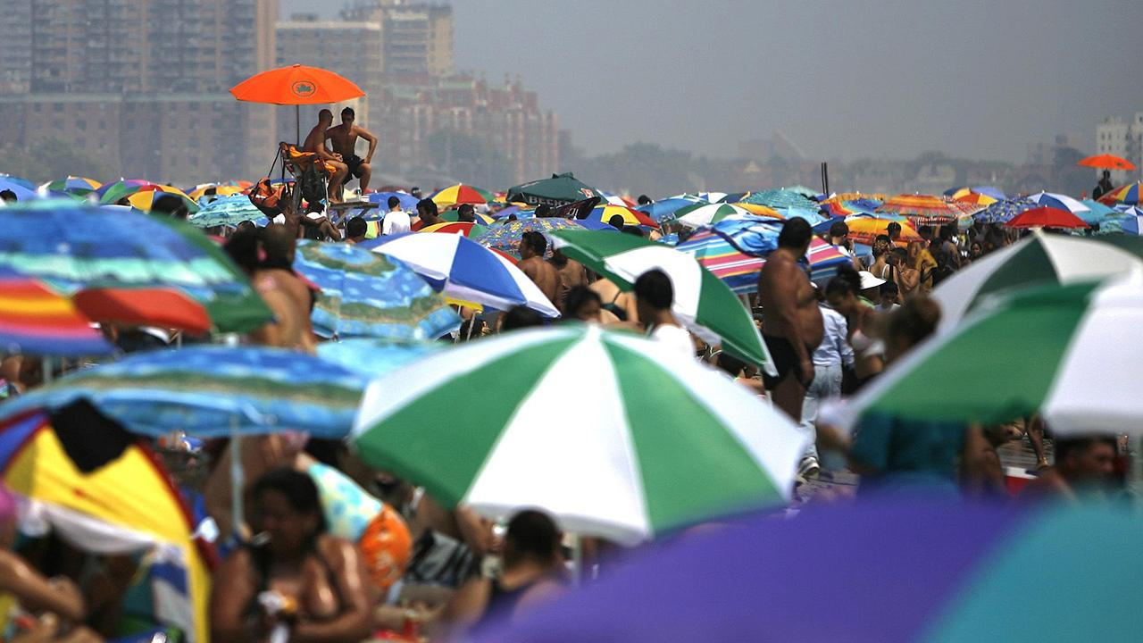Authorities warn of danger from flying beach umbrellas