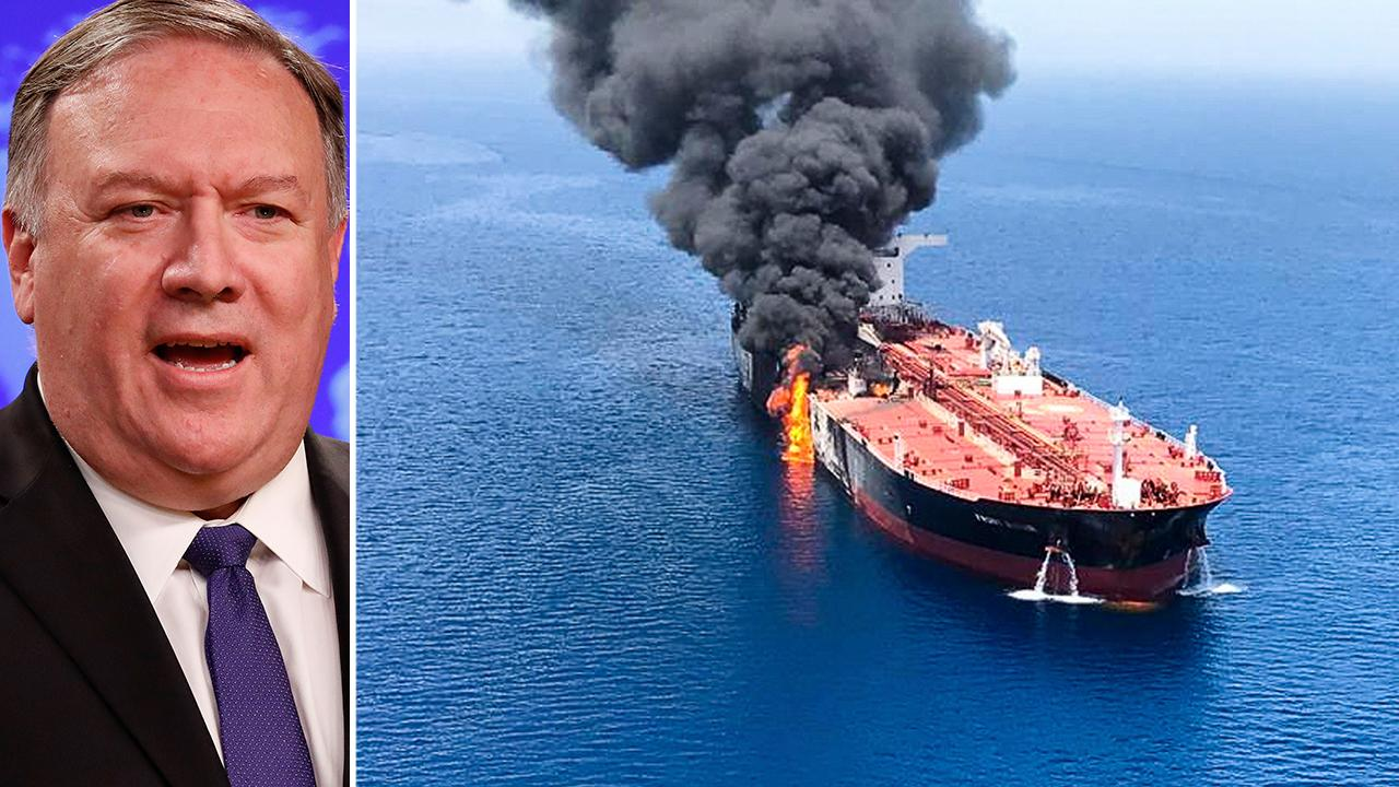 Pompeo blames Iran for attack on tankers in Gulf of Oman