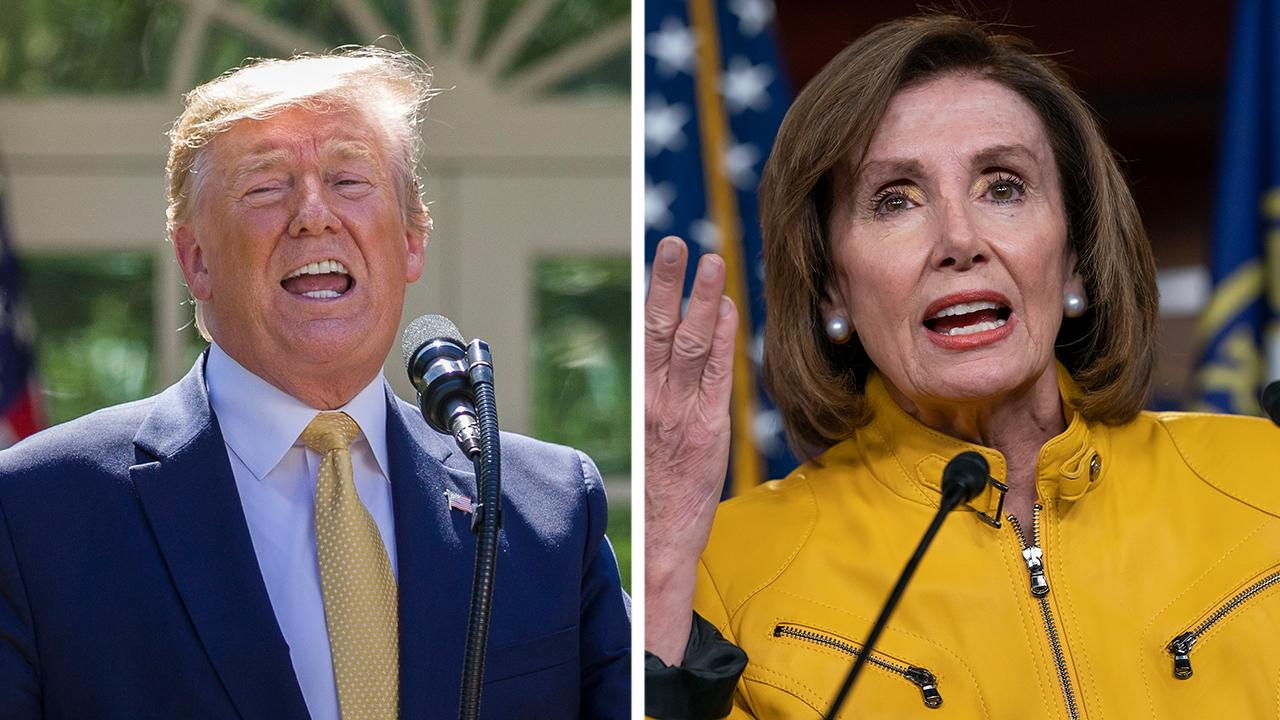 Trump blasts Pelosi, Democrats after backlash over foreign intel remark