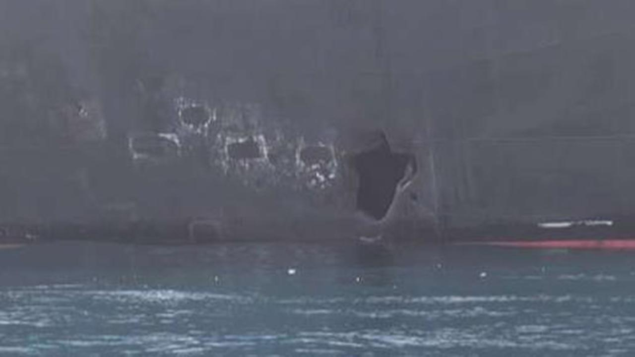 New images expelled from tanker attacks in Gulf of Oman