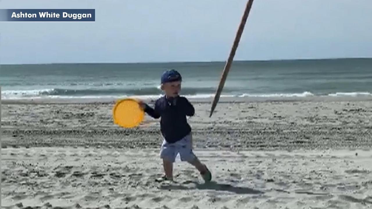 Toddler nearly impaled by flying umbrella at South Carolina beach