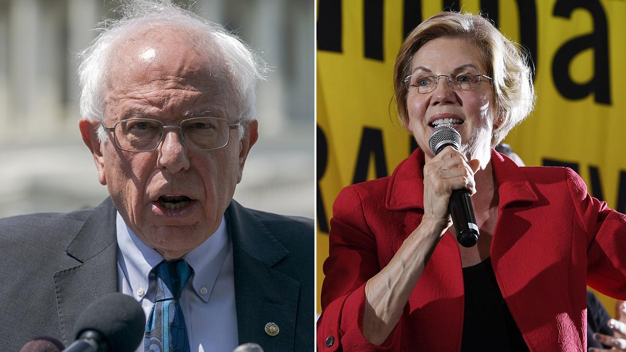 Bernie Sanders, Elizabeth Warren compete for liberal-leaning 2020 voters