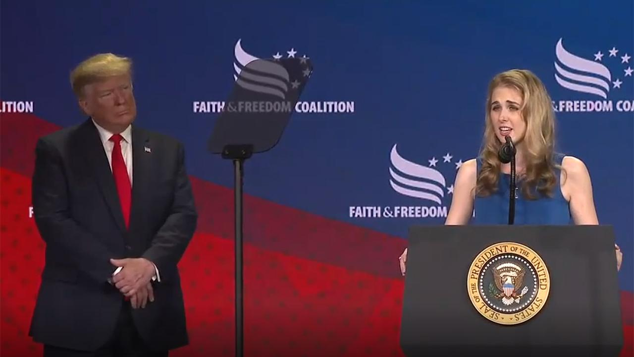 Natalie Harp praises President Trump's support for the Right to Try Bill