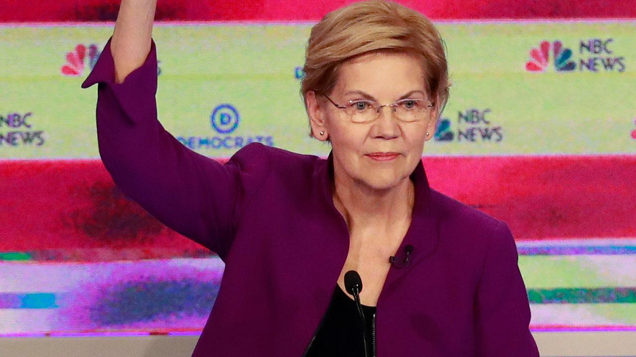 Sen. Elizabeth Warren reiterates support to end private insurance during debate