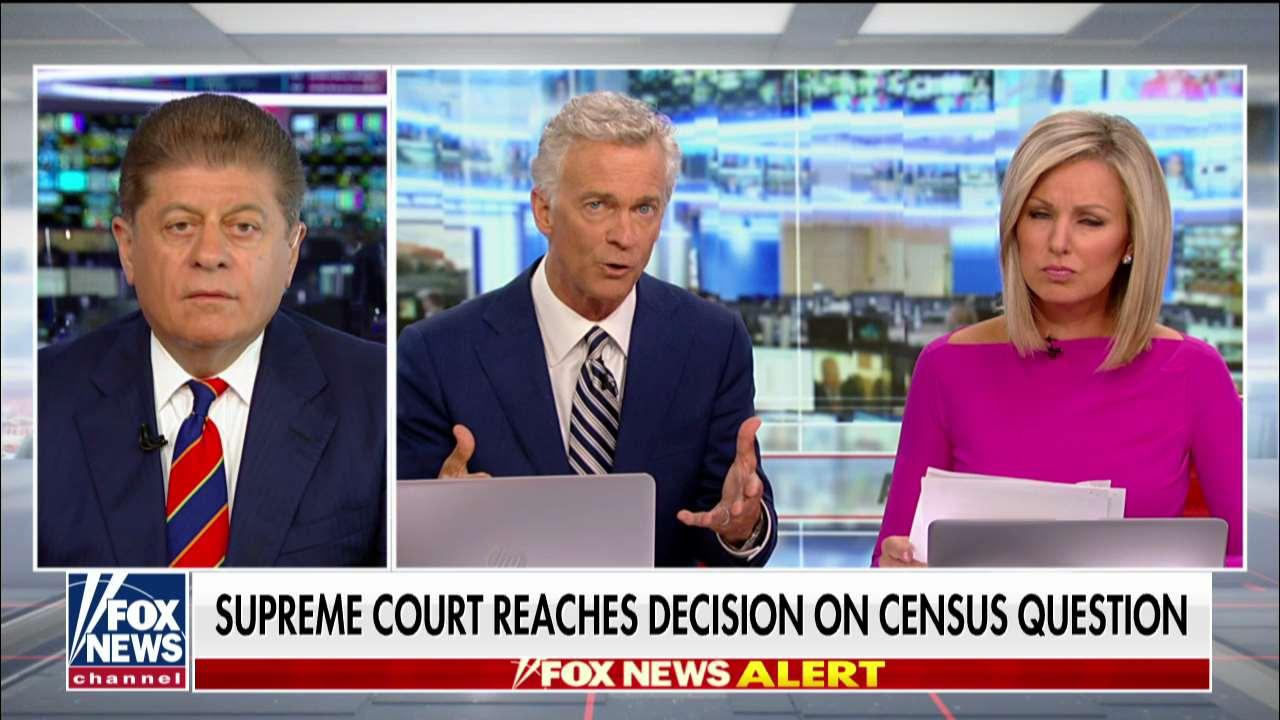 Judge Andrew Napolitano on SCOTUS blocking citizenship question from census.