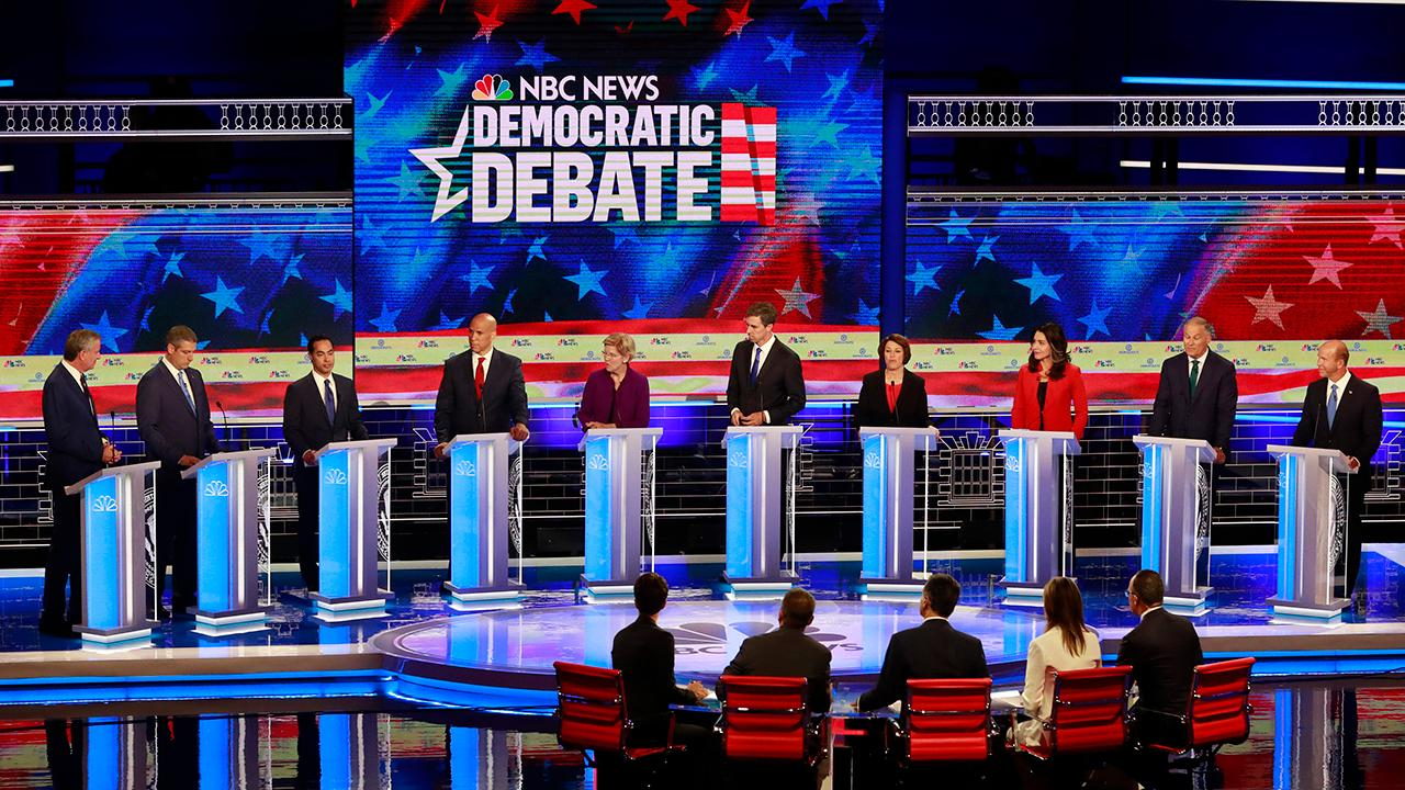 Democratic presidential candidates spar over border crisis during debate