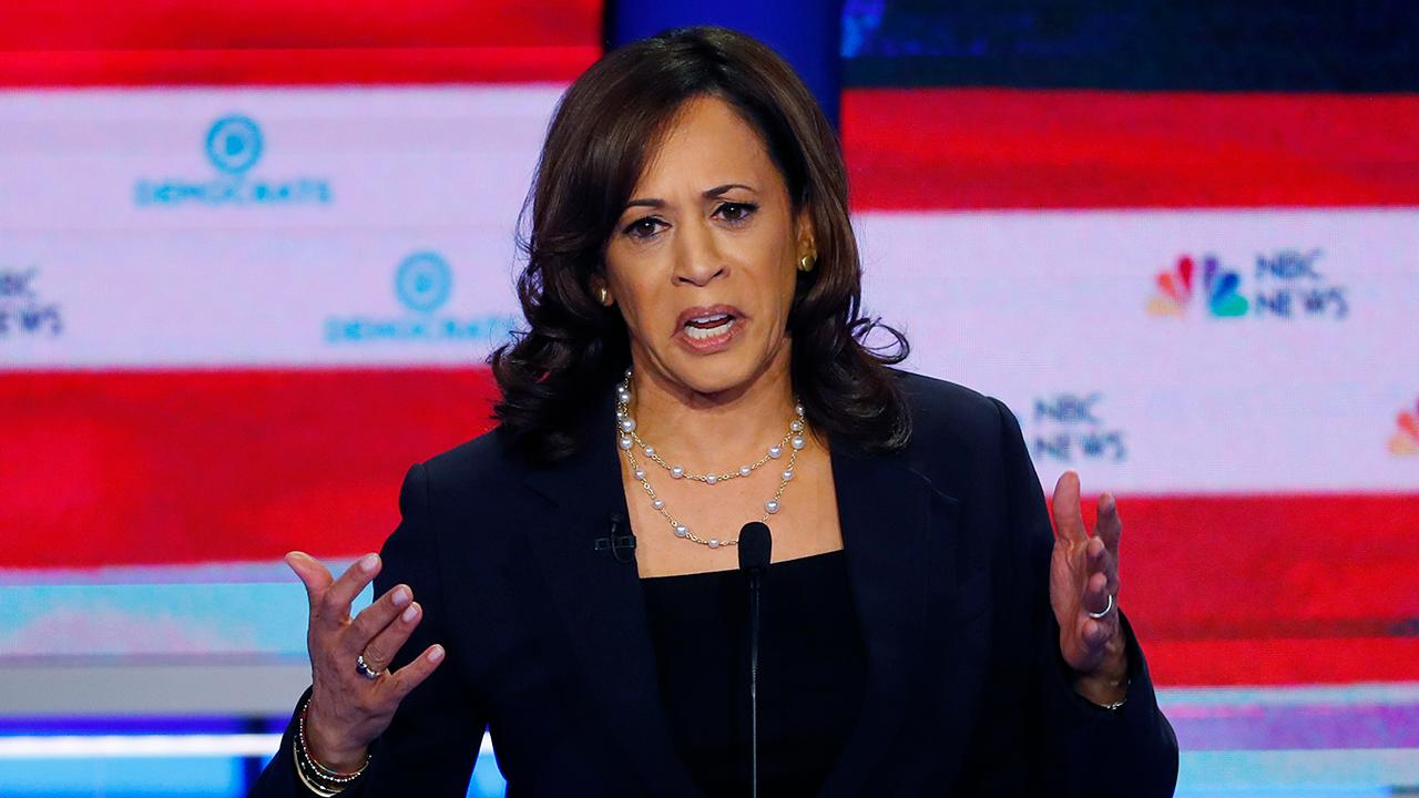 Kamala Harris looks to break out from crowded Democratic field