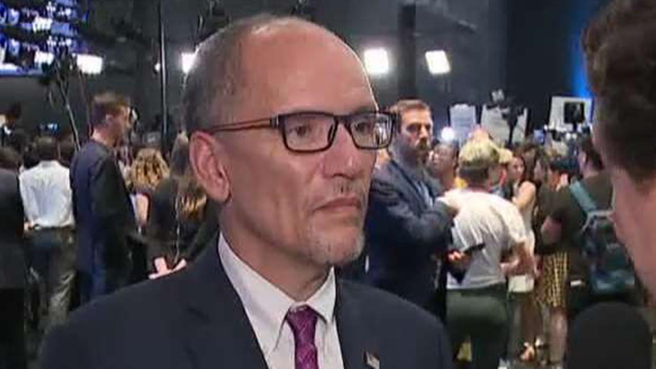 DNC chairman Tom Perez critiques the candidates' debate performance