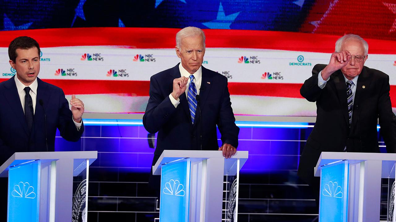 2020 Democratic presidential candidates bash Trump on foreign policy during debate night two