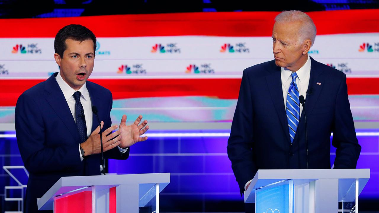2020 Democratic presidential candidates question Joe Biden's record