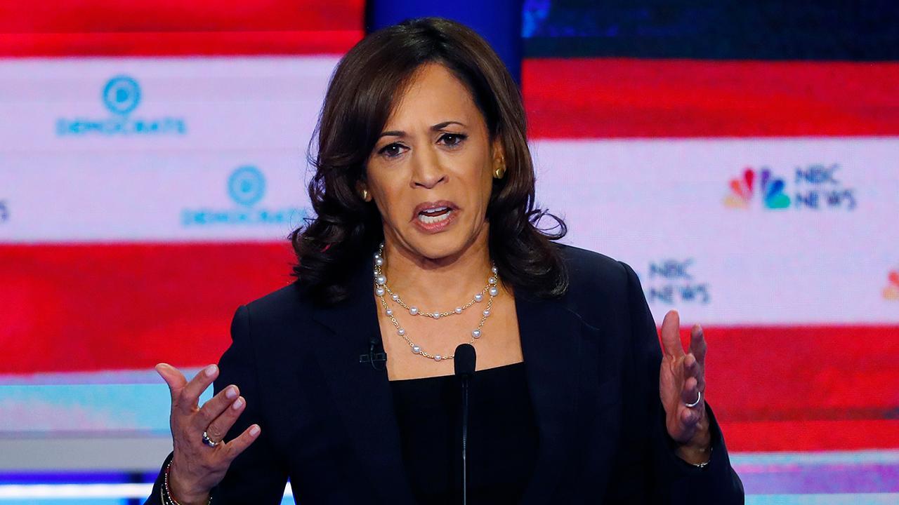 Kamala Harris confronts Joe Biden in tense exchange on race