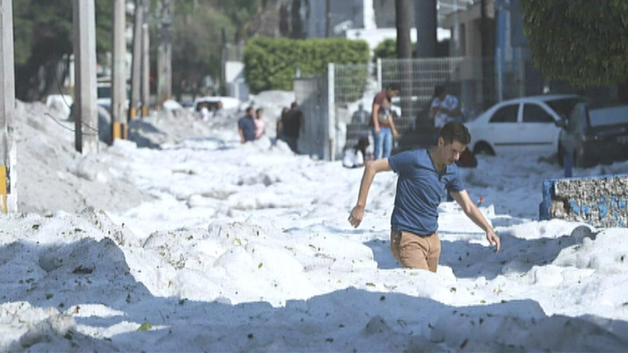 Freak hailstorm buries Mexican city of Guadalajara