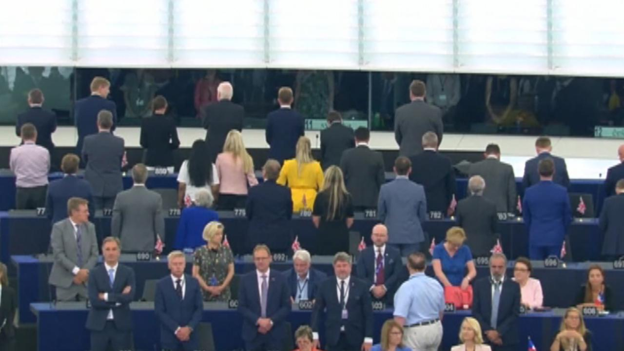 Westlake Legal Group 694940094001_6054673182001_6054670205001-vs Pro-Brexit lawmakers turn back on European anthem 'Ode to Joy' at EU Parliament opening fox-news/world/world-regions/united-kingdom fox-news/world/world-regions/europe/brexit fox-news/world/world-regions/europe fox-news/topic/the-european-union fox news fnc/world fnc article Adam Shaw 8ff5a159-a0d8-54c4-a5b7-cf56bbe4309b