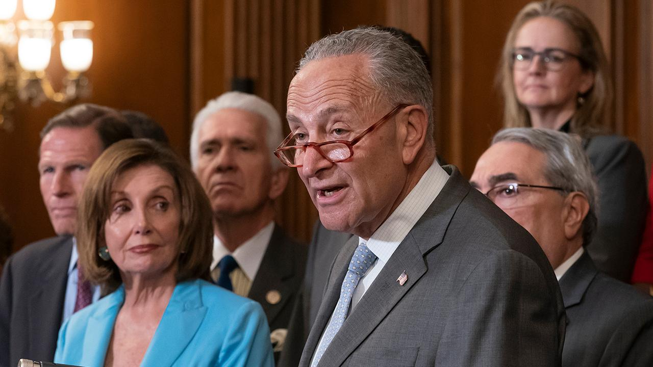 Westlake Legal Group 694940094001_6055249043001_6055258878001-vs Pelosi, Schumer to Trump: Gun control must include background checks fox-news/us/personal-freedoms/second-amendment fox-news/politics/senate/democrats fox-news/politics/house-of-representatives/democrats fox-news/politics/executive/white-house fox-news/person/nancy-pelosi fox-news/person/donald-trump fox-news/person/chuck-schumer fnc/politics fnc Associated Press article 3ed7bb1f-da14-5554-99df-678180ab12bc