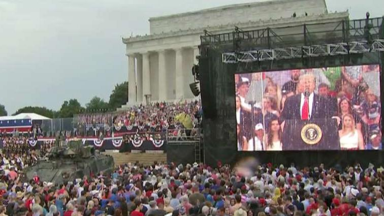 Trump praises military service members during Fourth of July address