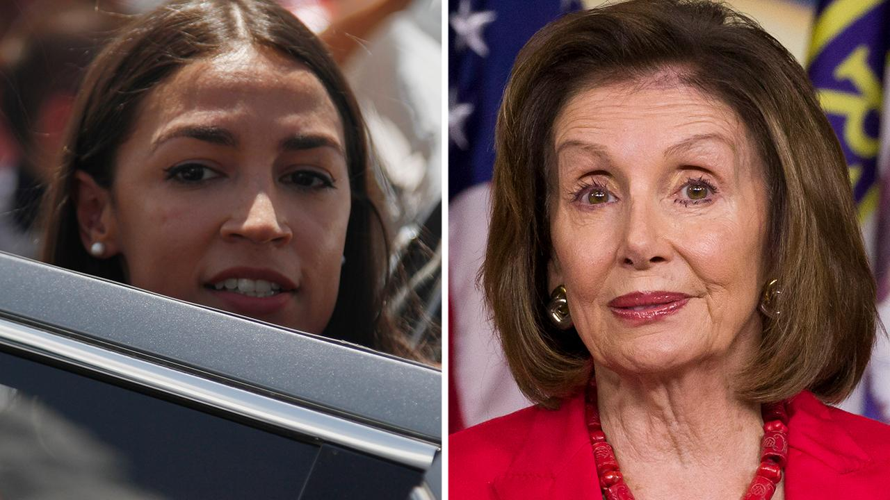 Rep. Alexandria Ocasio-Cortez and Speaker Nancy Pelosi attack each other over border funding vote