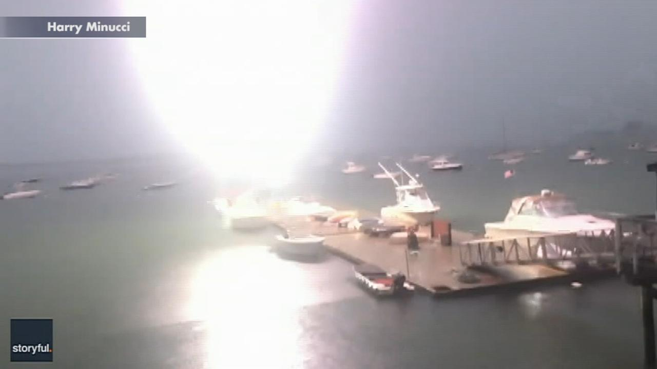Westlake Legal Group 694940094001_6056530664001_6056519625001-vs Lightning hits boat in Boston harbor, explosive video shows Travis Fedschun fox-news/weather fox-news/us/us-regions/northeast/massachusetts fox-news/us/us-regions/northeast fox-news/us/disasters fox news fnc/us fnc article 4d4ec0f8-61b6-5447-ae0b-ecab9f945b64