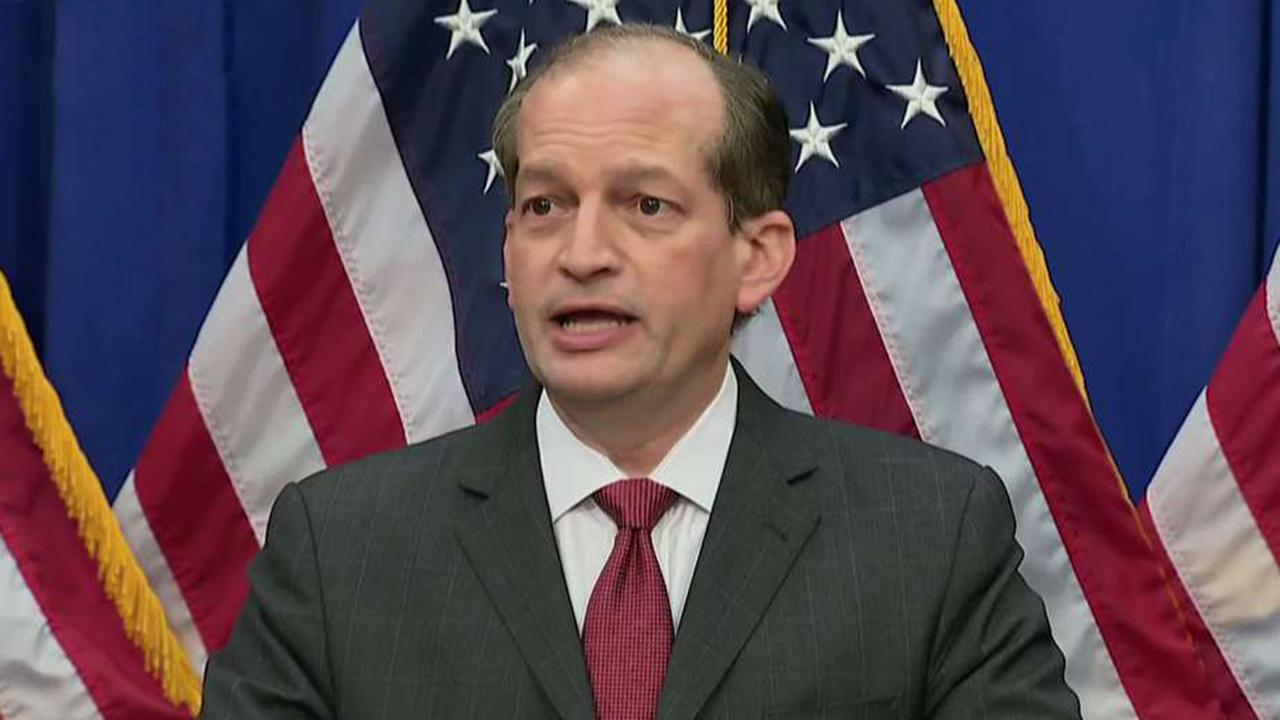 Labor Secretary Alex Acosta makes statement on Jeffrey Epstein's 2008 plea deal, new charges