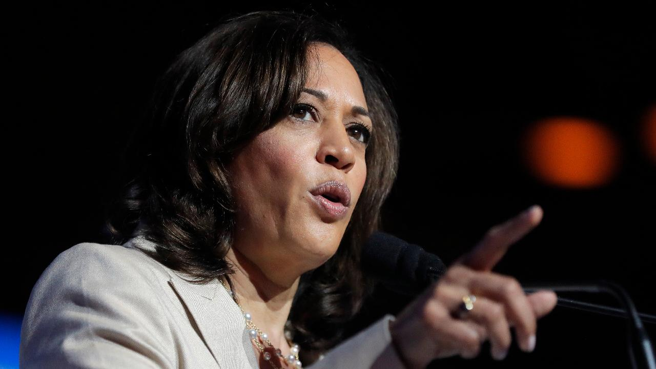 Westlake Legal Group 694940094001_6059004818001_6059014976001-vs Kamala Harris, a critic of Acosta's Epstein plea deal, under fire for agreement she negotiated as California AG Lukas Mikelionis fox-news/politics/2020-presidential-election fox-news/person/kamala-harris fox news fnc/politics fnc article 2ed54bcc-efec-5f3e-be0f-19e0e8e49a77