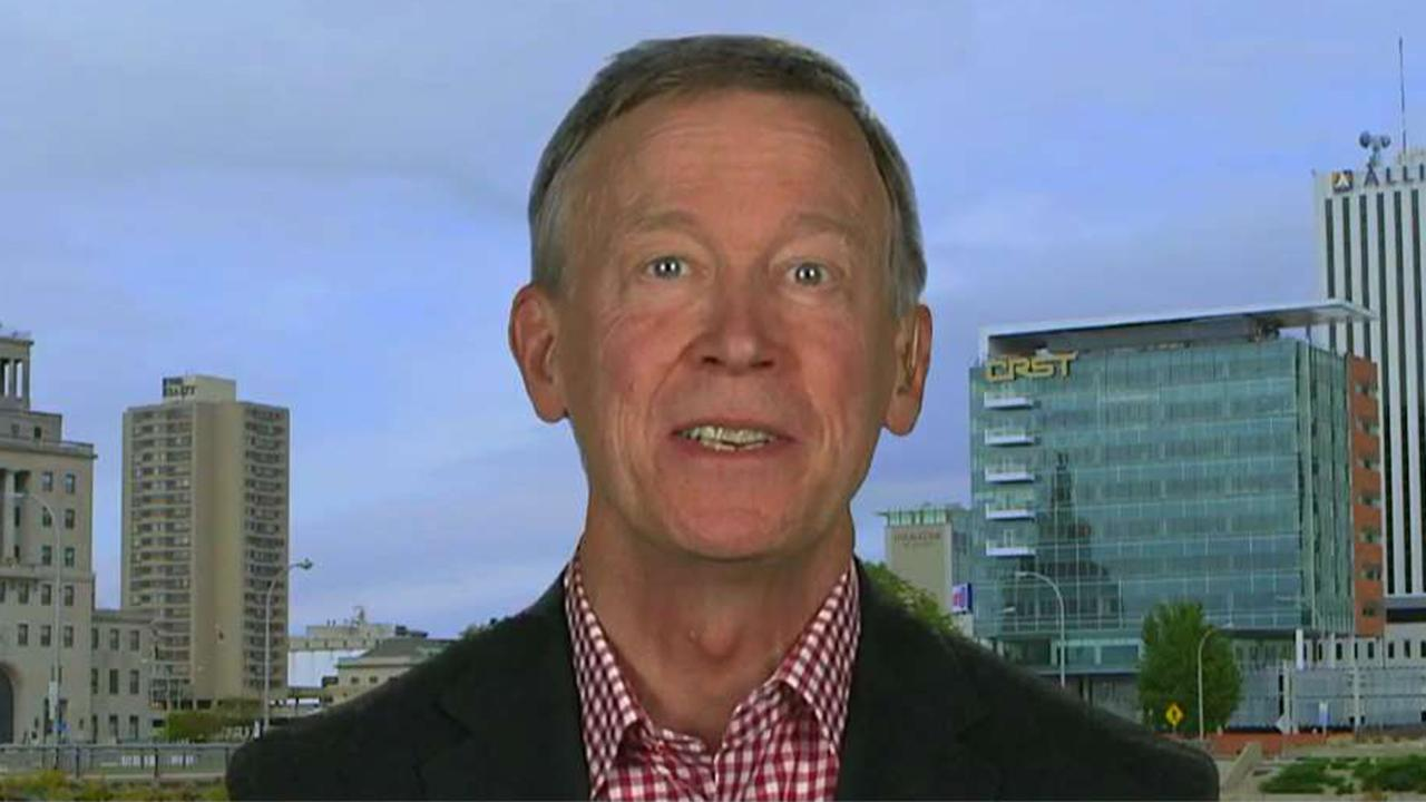 John Hickenlooper says the Democratic Party is a 'big tent'