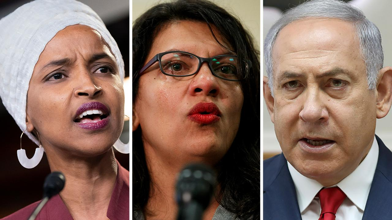Westlake Legal Group 694940094001_6061405613001_6061414065001-vs Ilhan Omar accuses Netanyahu of imposing 'Muslim ban' as Dems decry decision to block Israel visit fox-news/person/rashida-tlaib fox-news/person/ilhan-omar fox news fnc/politics fnc article Alex Pappas 06116daf-b1c2-584f-9f34-bbe14ce1a515
