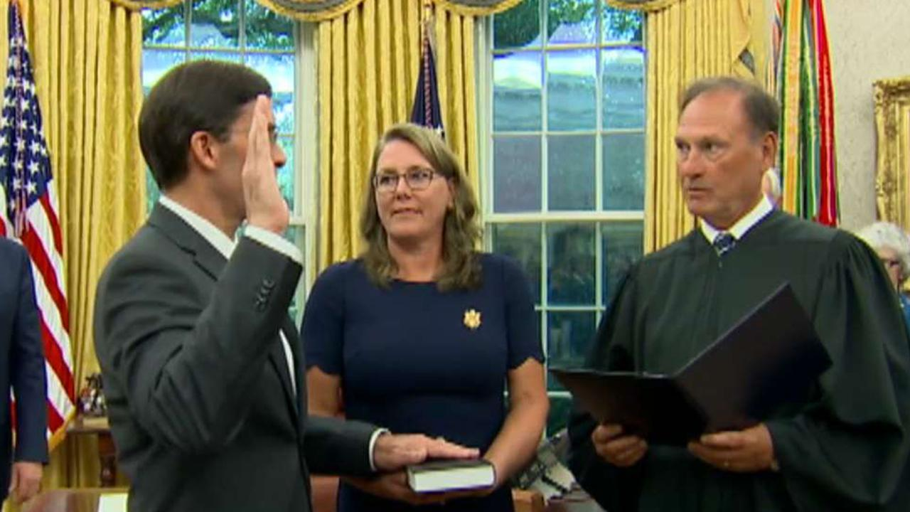 Mark Esper officially sworn in as defense secretary