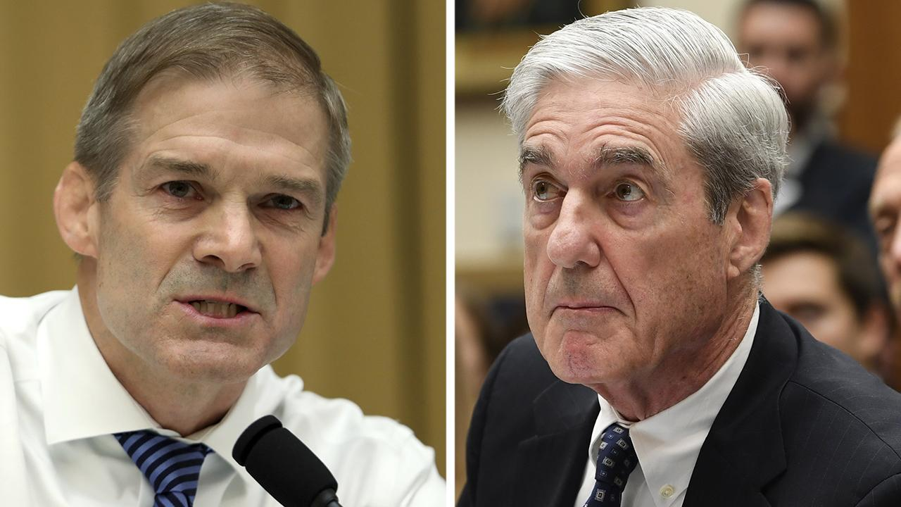 Rep. Jim Jordan grills Robert Mueller on the origins of the 2016 Russian interference election probe