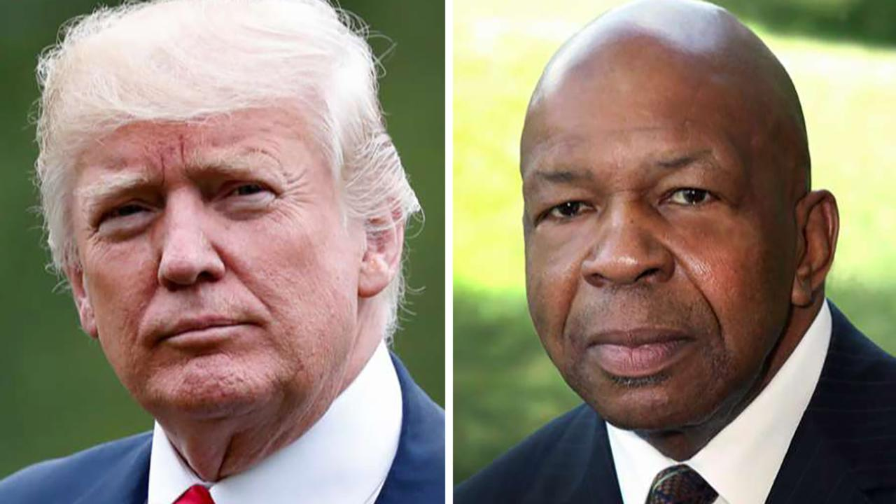 President Trump renews attacks on Rep. Cummings, Baltimore
