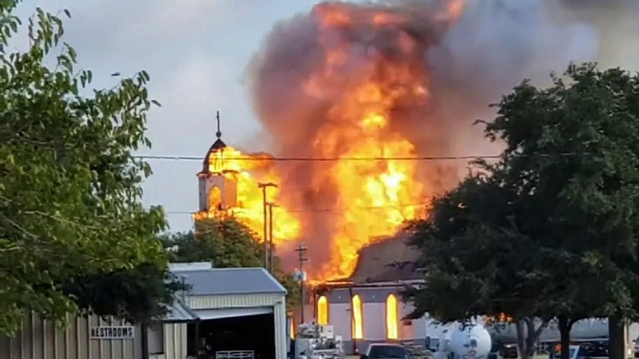 124-year-old Catholic church in Texas burns to the ground