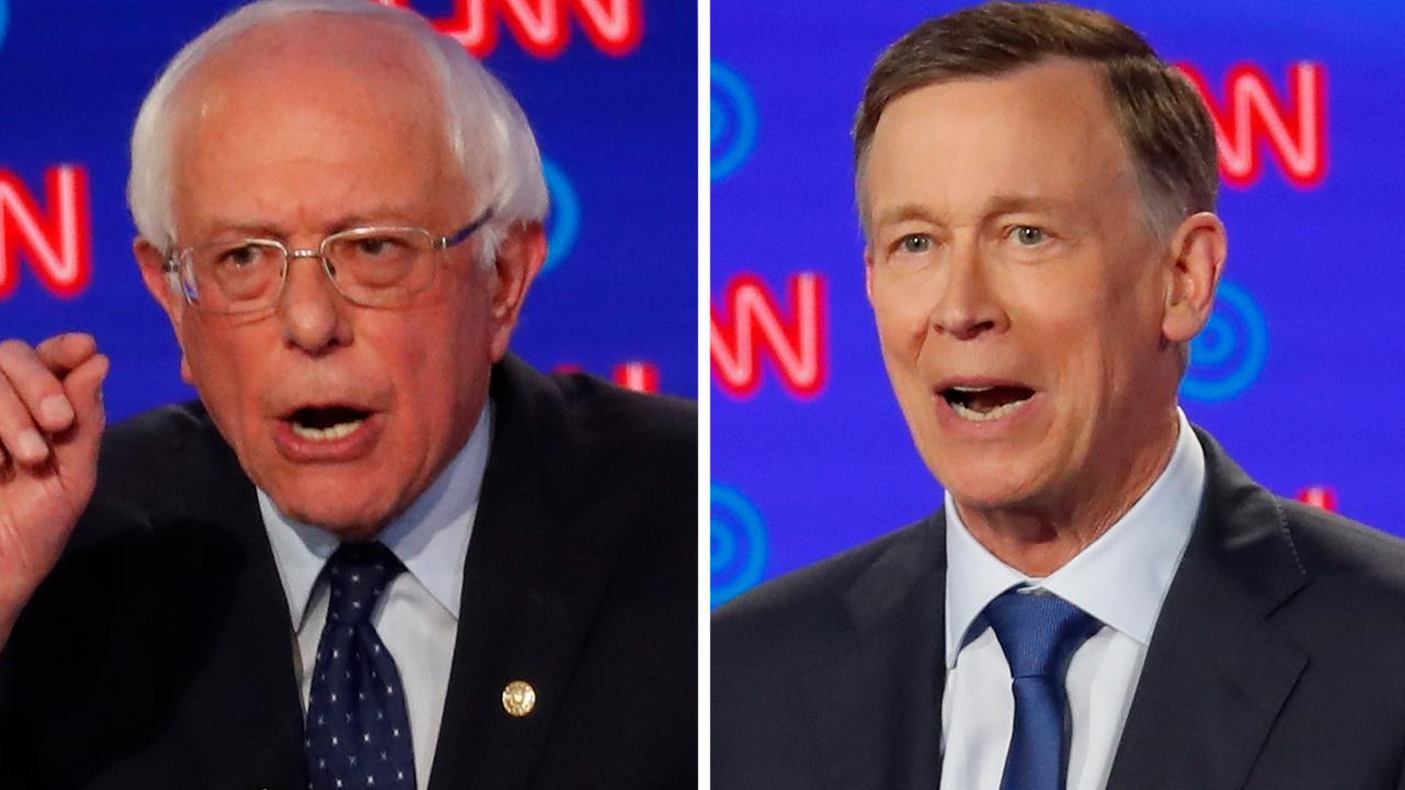 John Hickenlooper mocks Bernie Sanders during heated debate