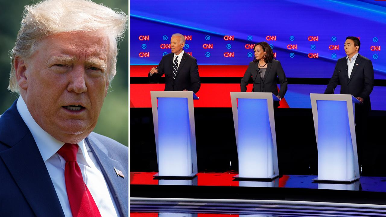 President Trump reacts to Democratic debate, says candidates won't keep America great