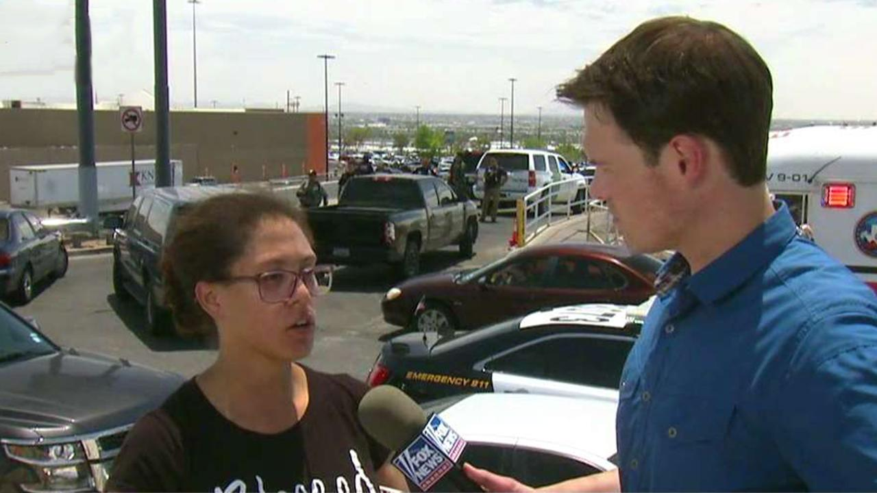 El Paso shooting eyewitness describes running through Walmart, hiding in metal shipping container