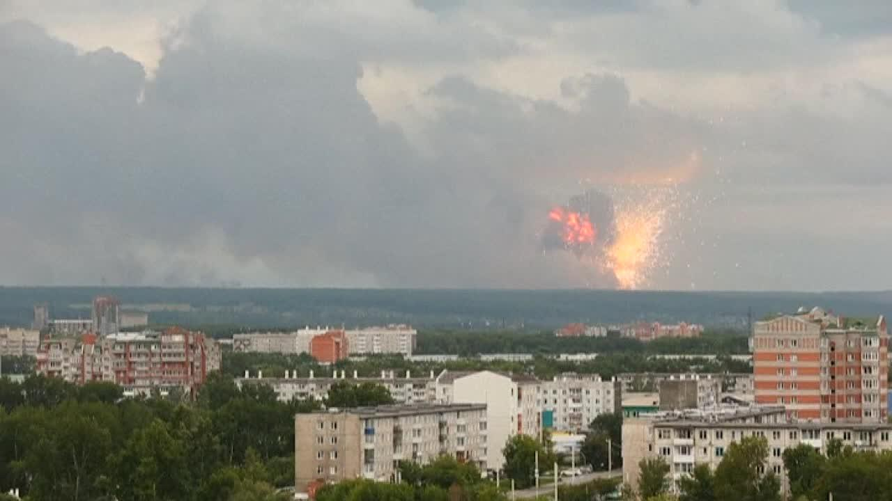 Fire at Siberian arms depot triggers massive explosions