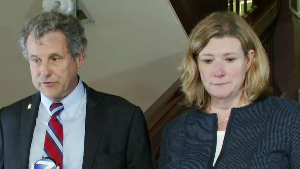 Sen. Sherrod Brown and Dayton, Ohio Mayor Nan Whaley speak after Trump visits mass shooting survivors