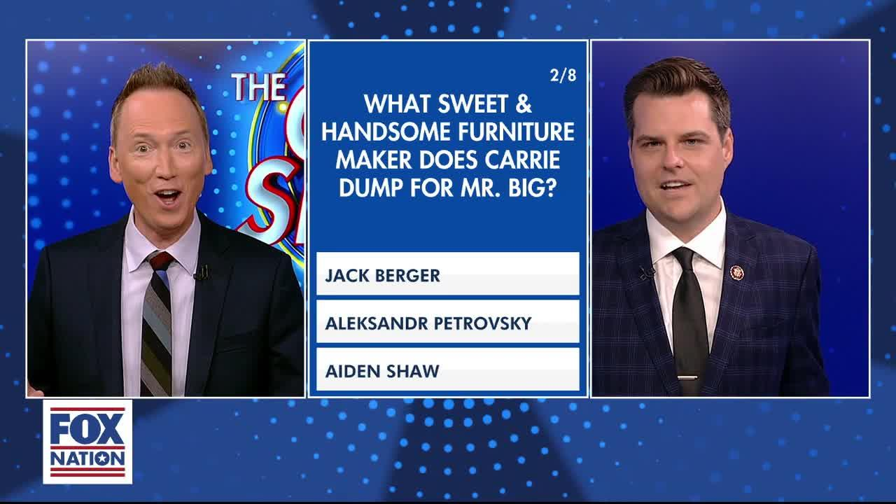 'Quiz Show' must-see moments: Rep. Gaetz