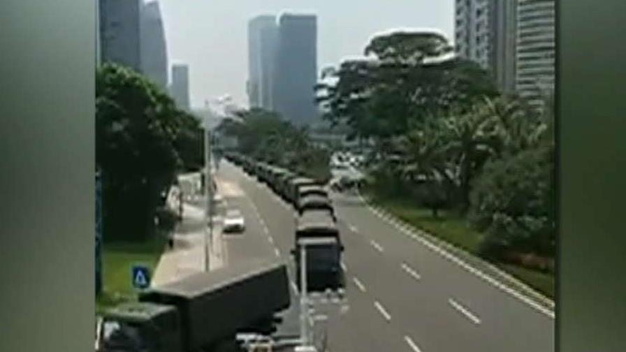 Chinese troops moving near Hong Kong border after days of violent protests