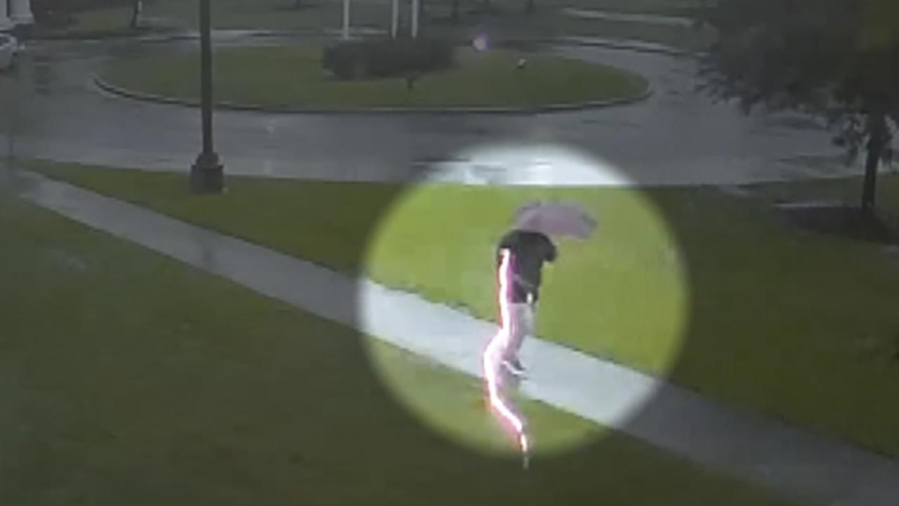 Man almost struck by lightning during storm in South Carolina