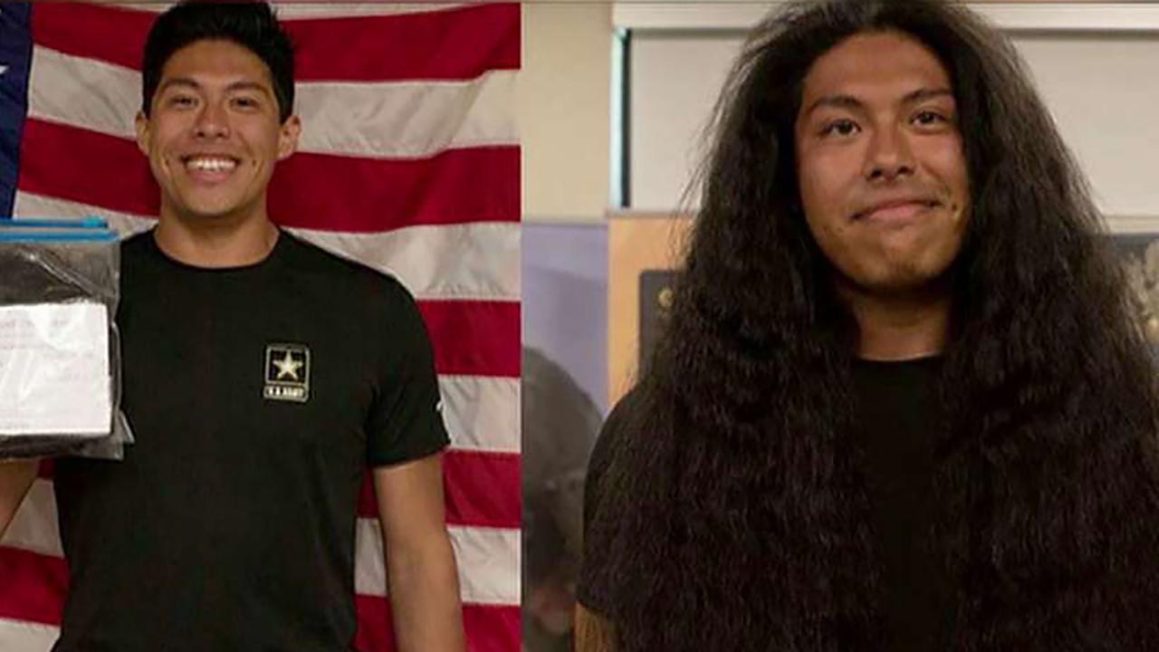 New US Army soldier gets first haircut in 15 years to join military thumbnail