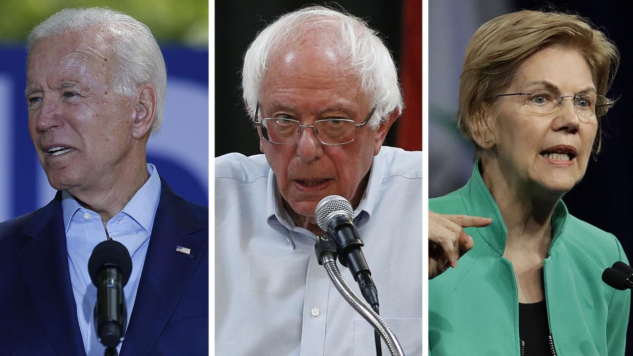 Biden campaign pushes back after new poll shows former vice president in three-way tie with Sanders, Warren
