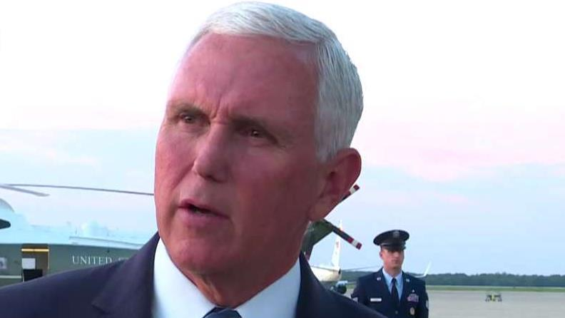 Vice President Pence comments on deadly Texas shooting and Hurricane Dorian.
