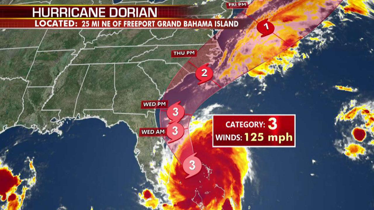 Westlake Legal Group 694940094001_6082755520001_6082760765001-vs Hurricane Dorian downgraded to Category 3 storm, continues its assault on the Bahamas fox-news/us/us-regions/southeast/florida fox-news/science/planet-earth/natural-disasters/hurricane-dorian fox news fnc/world fnc Edmund DeMarche c5f6f2cf-9452-5ad2-9d1a-9340c923fb56 article
