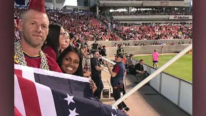 Major League Soccer club bans Utah couple from waving 'Betsy Ross flag' at games