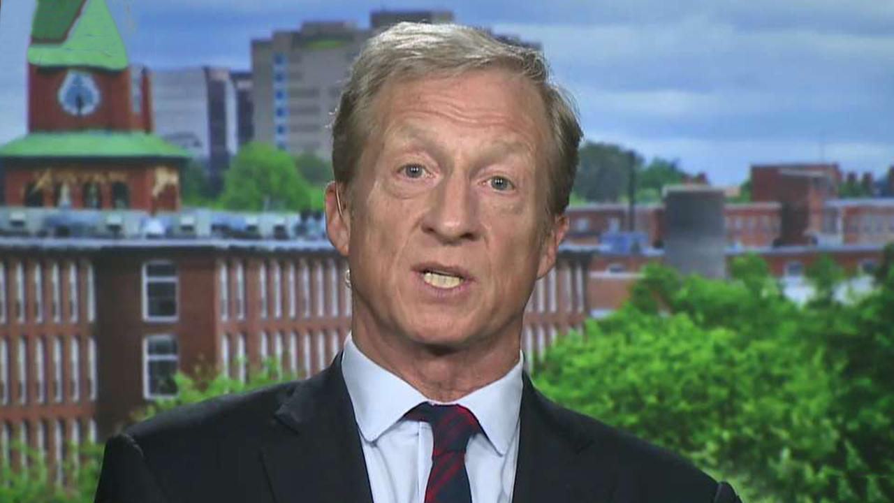 Democratic presidential candidate Tom Steyer on state of White House run, missing cut for climate debate