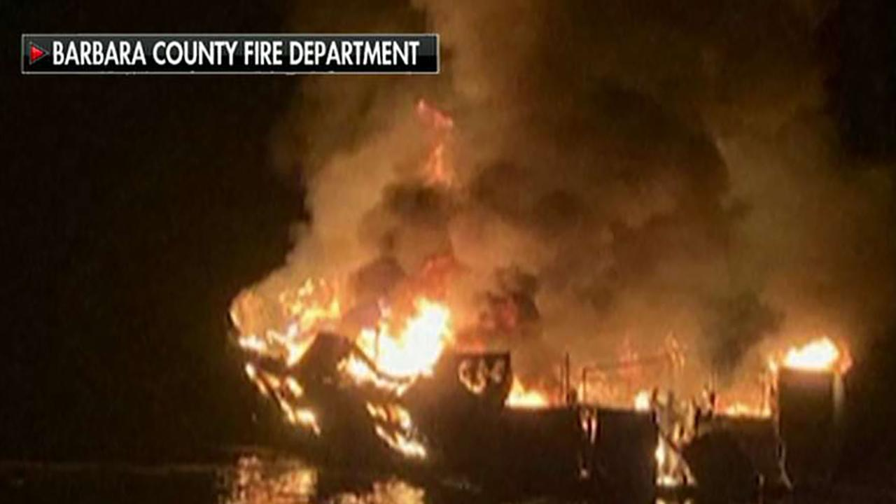 Families demand answers after diving boat goes up in flames