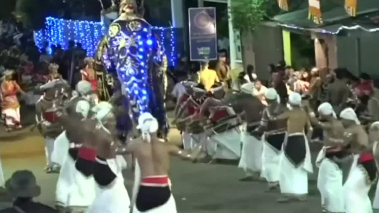 Sri Lanka elephants run wild during religious procession, at least 17 people injured