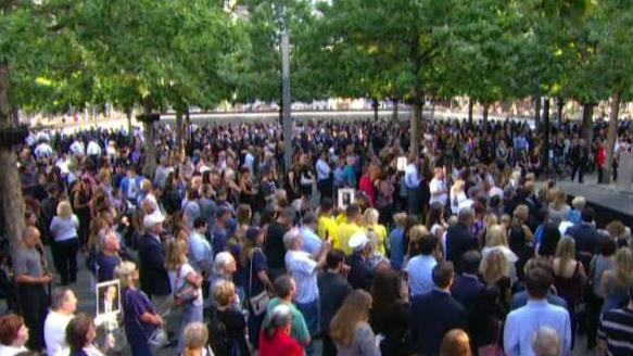 New Yorkers gather at Ground Zero on 18th anniversary of 9/11 attacks