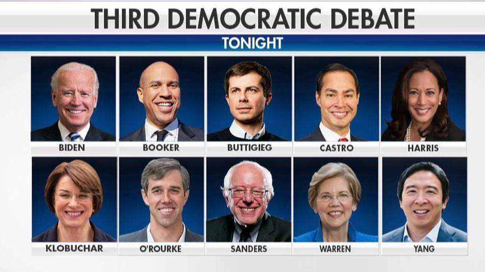 10 Democratic presidential hopefuls set to square off in third debate
