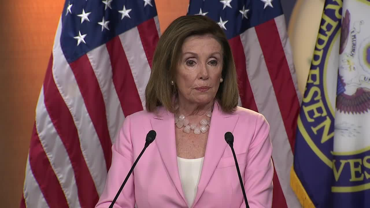 Nancy Pelosi shuts down questions on House Democrats' impeachment inquiry